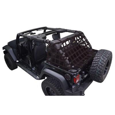 DirtyDog 4x4 Rear Upper Cargo Netting with Regular Sides, Black - D/DJ4NN07RCBK