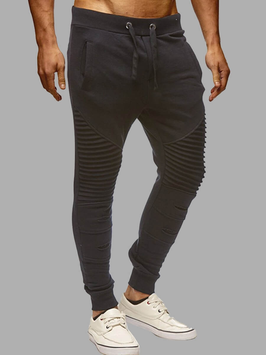 LW Lovely Casual Patchwork Black Men Pants