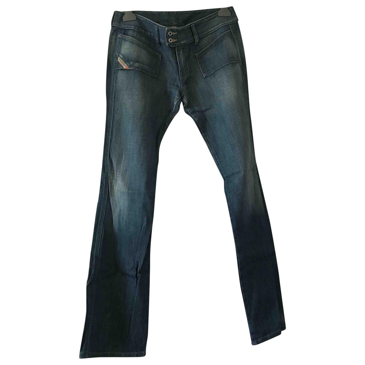 Diesel \N Blue Cotton Trousers for Women XXS