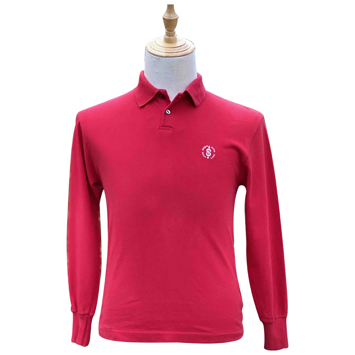Issey Miyake - Polos   pour homme en coton - rouge