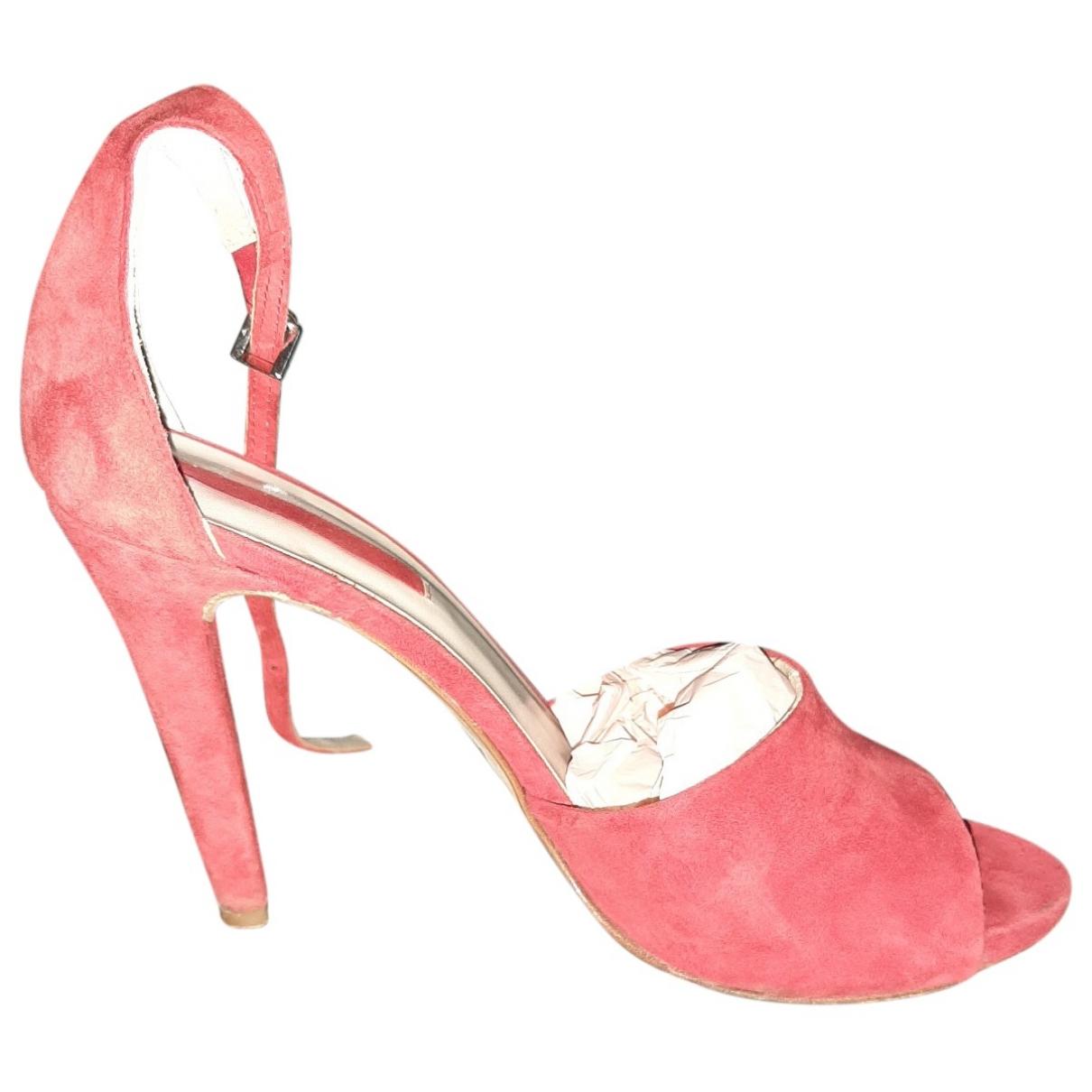Coccinelle - Sandales   pour femme en suede - rouge