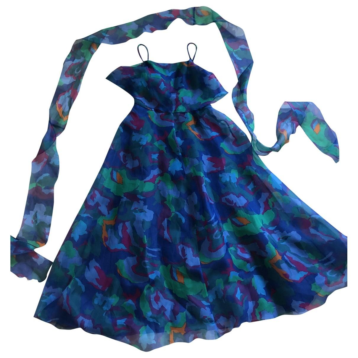 Emporio Armani \N Blue Silk dress for Women 40 IT