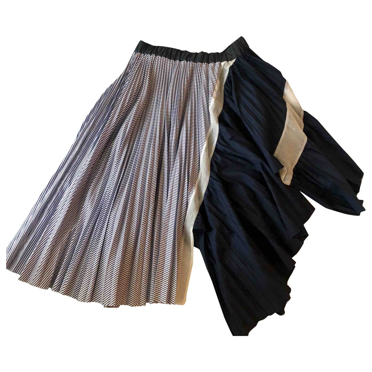 Sacai \N Blue Cotton skirt for Women 2 0-5