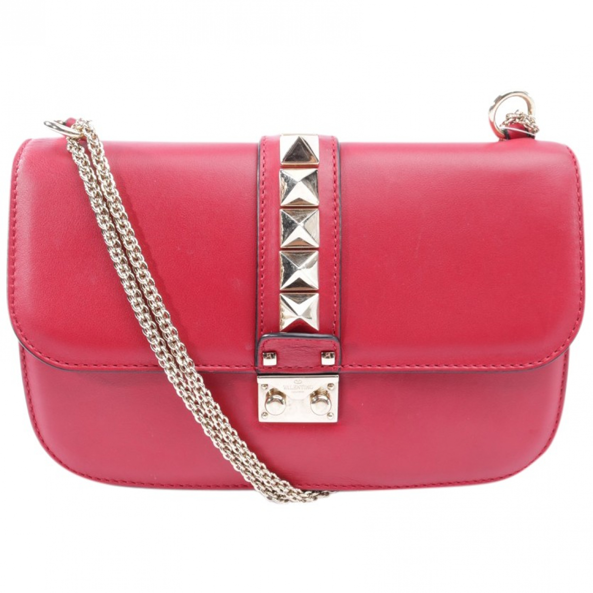 Valentino Garavani Rockstud Red Leather Clutch bag for Women \N