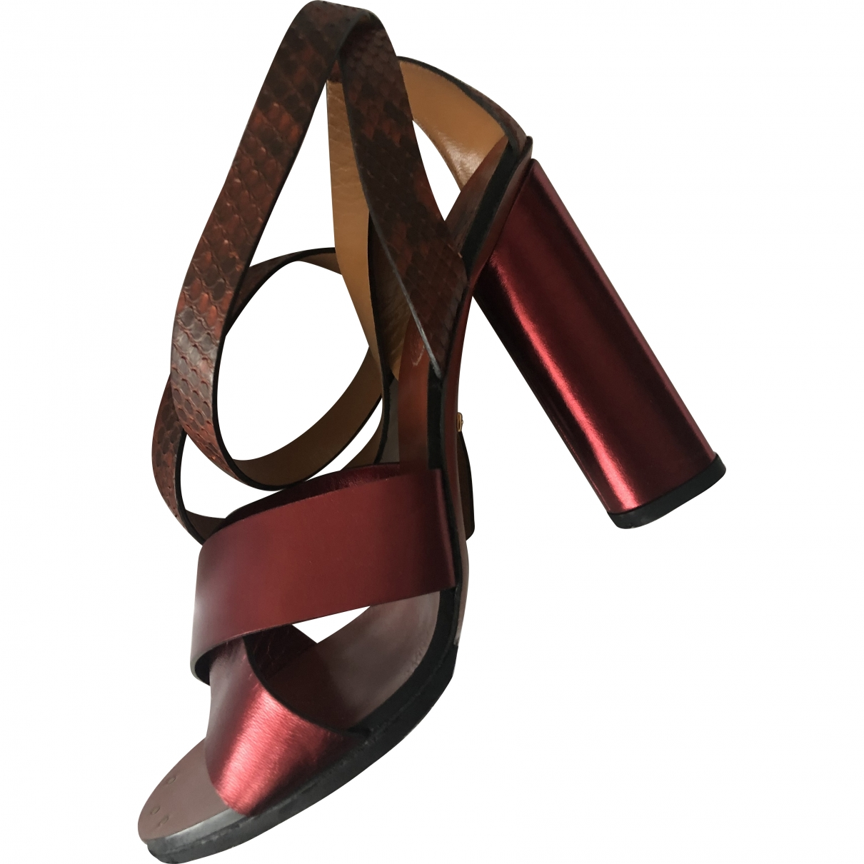 Gucci \N Red Python Sandals for Women 37 EU