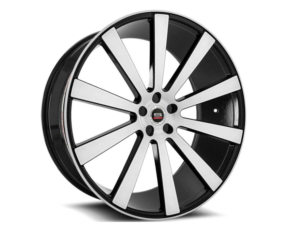 Spec-1 SPL-202 Wheel Luxury Series 20x9 5x120 32mm Gloss Black Brushed