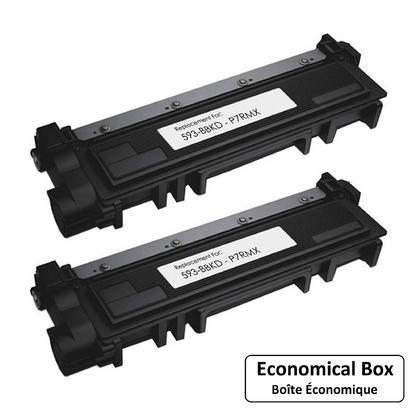 Dell P7RMX 593-BBKD F/E31X Compatible Black Toner Cartridge High Yield - Economical Box - 2/Pack