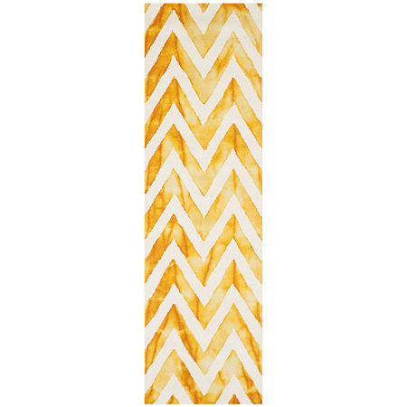 Safavieh Dip Dye Collection Ronnie Chevron Runner Rug, One Size , Multiple Colors