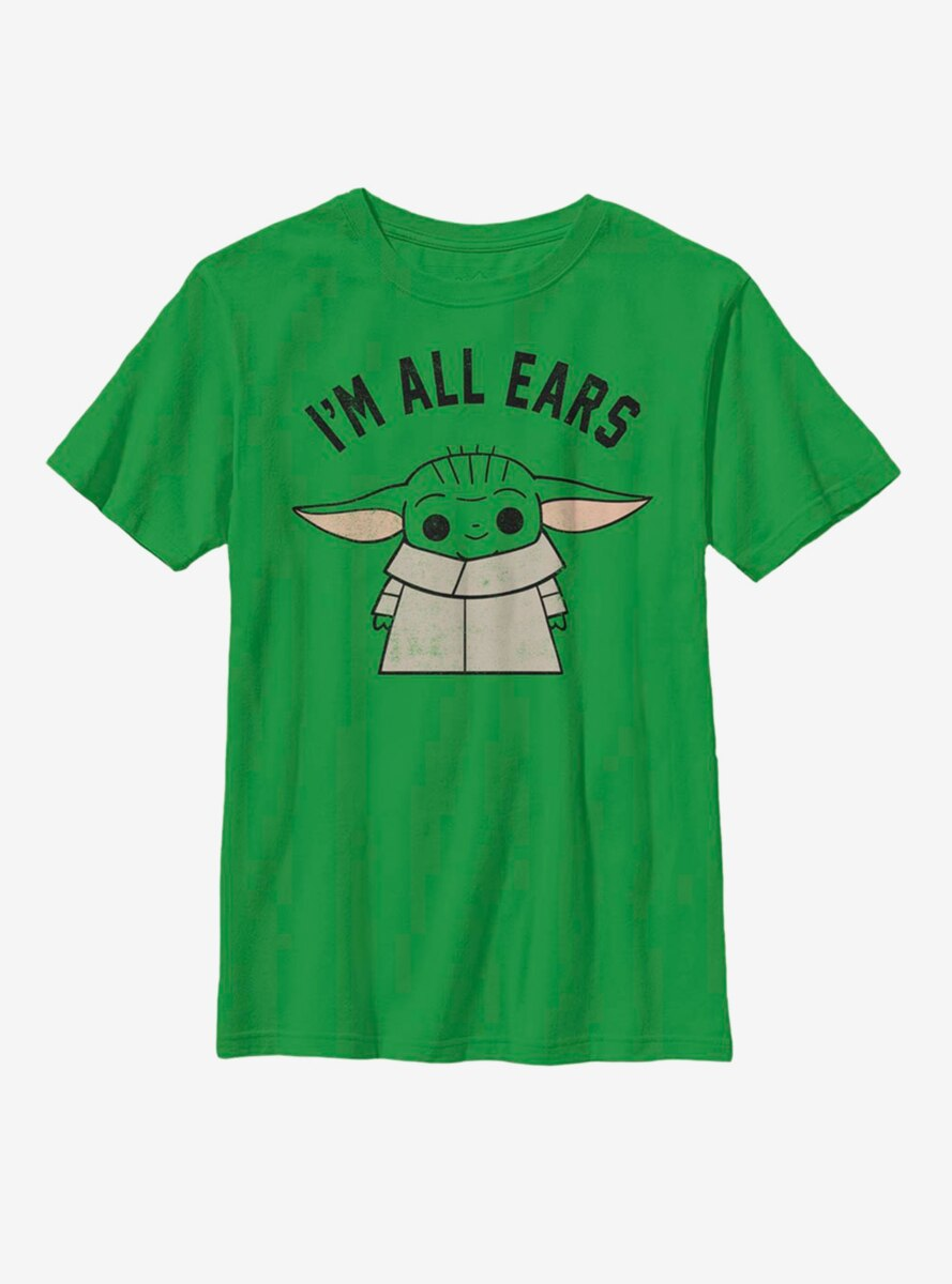 Star Wars The Mandalorian The Child All Ears Youth T-Shirt