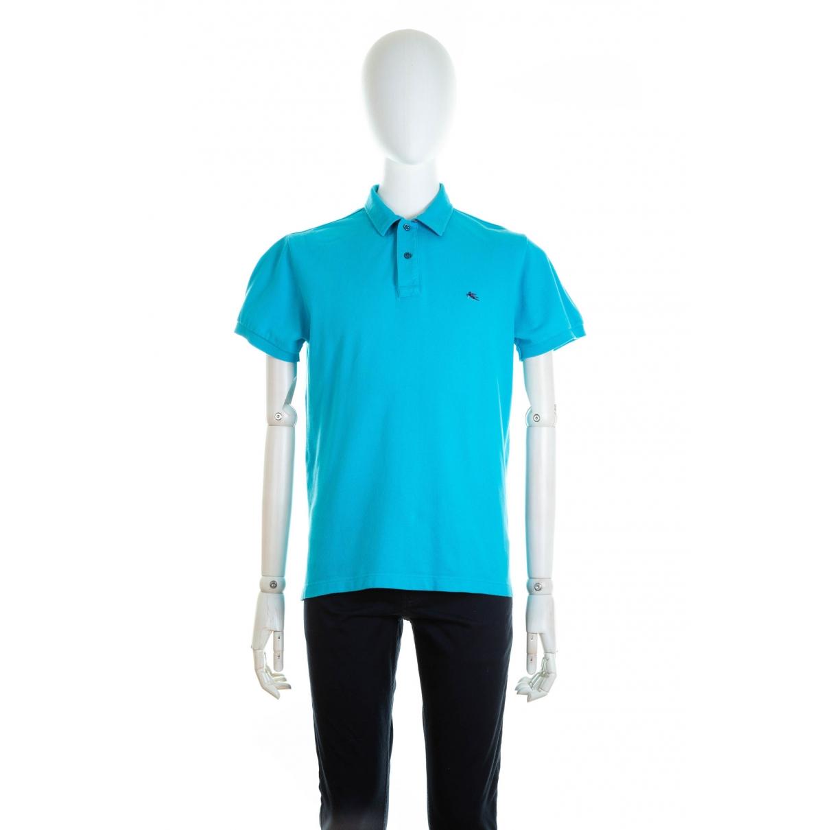 Etro - Tee shirts   pour homme en coton - turquoise