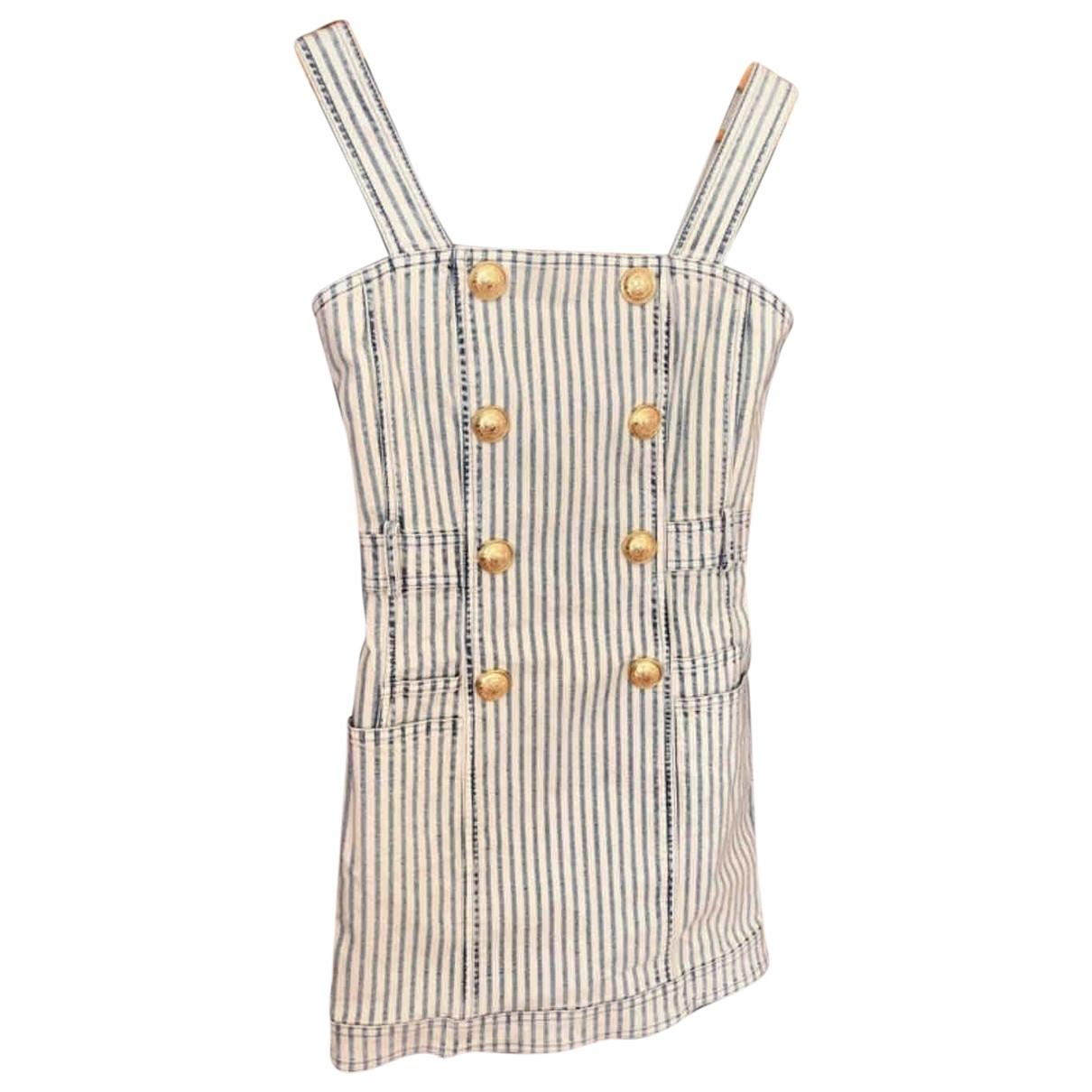 Balmain \N Blue Cotton dress for Women 36 IT