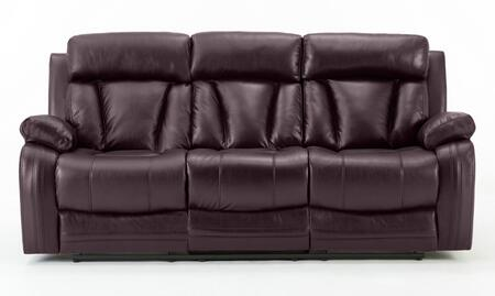 Collete Collection 1039-S-BR Recliner Sofa with Manual Handle and 4 Clearance From Wall in Brown