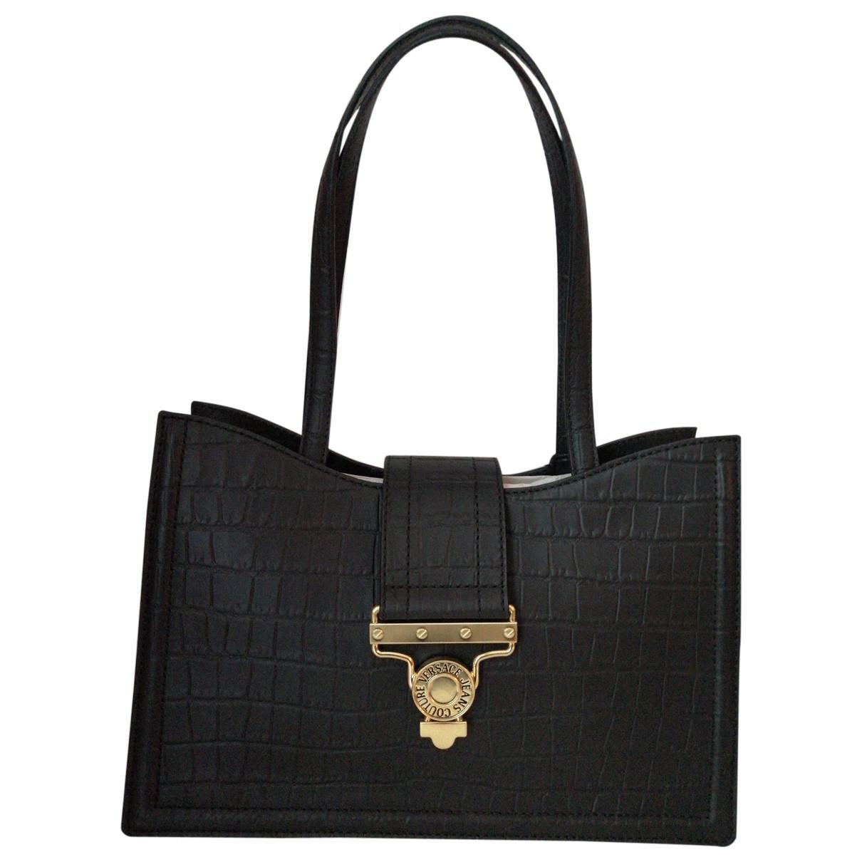 Versace Jeans \N Black Cloth handbag for Women \N