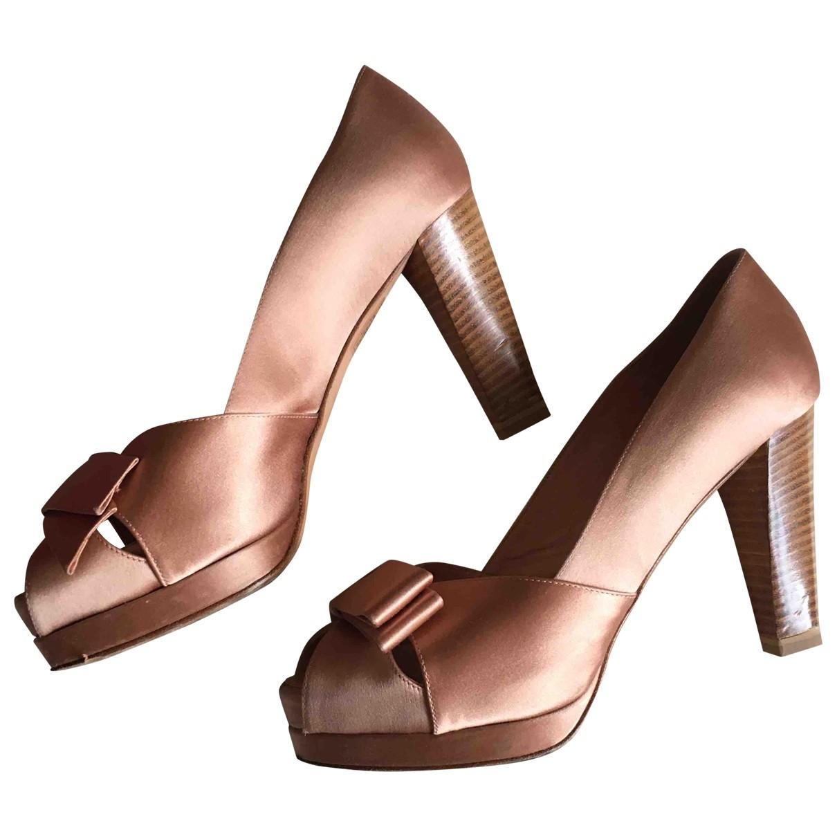 Lella Baldi \N Pink Leather Heels for Women 37 EU