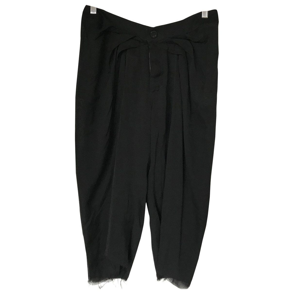 Rick Owens \N Black Silk Shorts for Women 40 IT