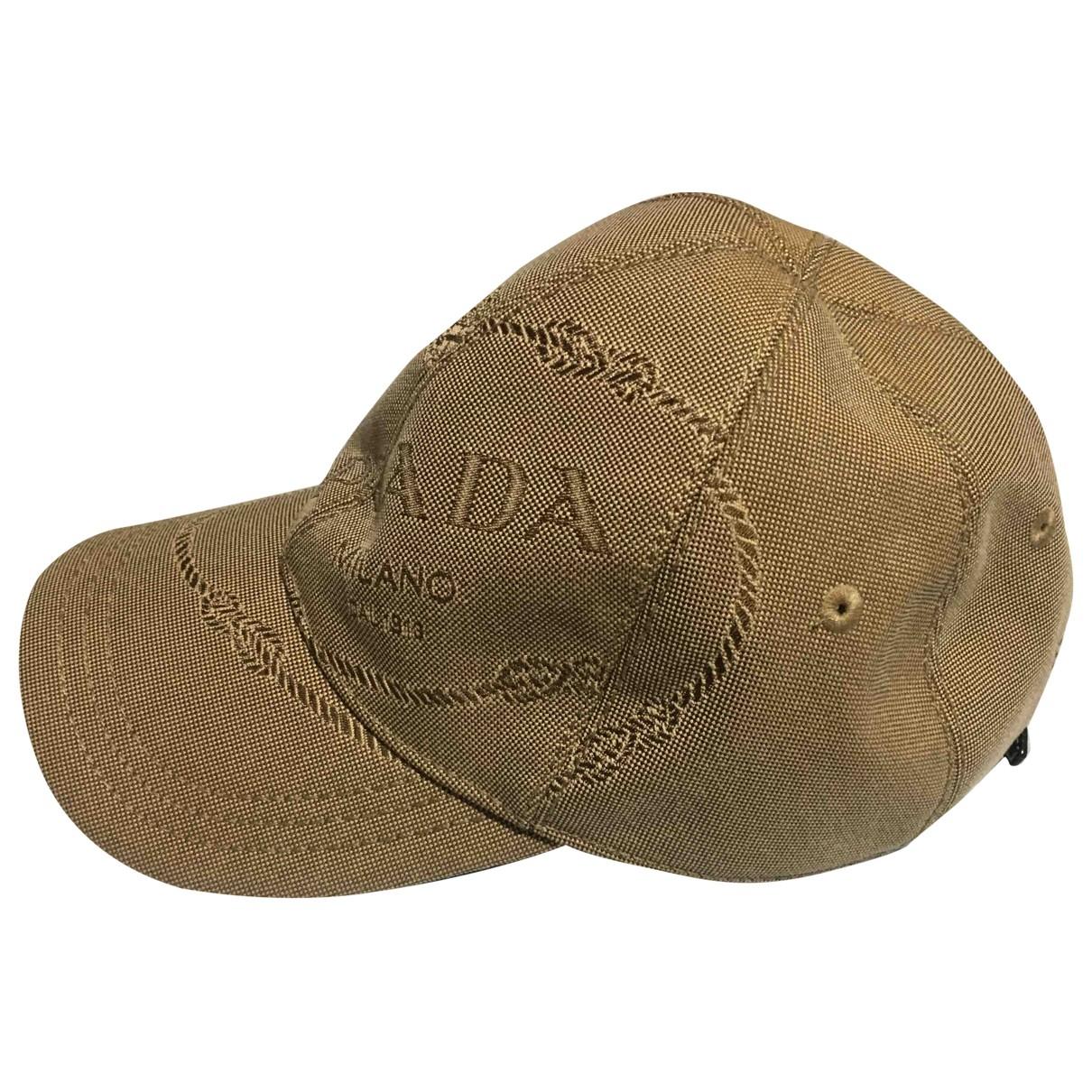 Prada - Chapeau & Bonnets   pour homme en coton - beige