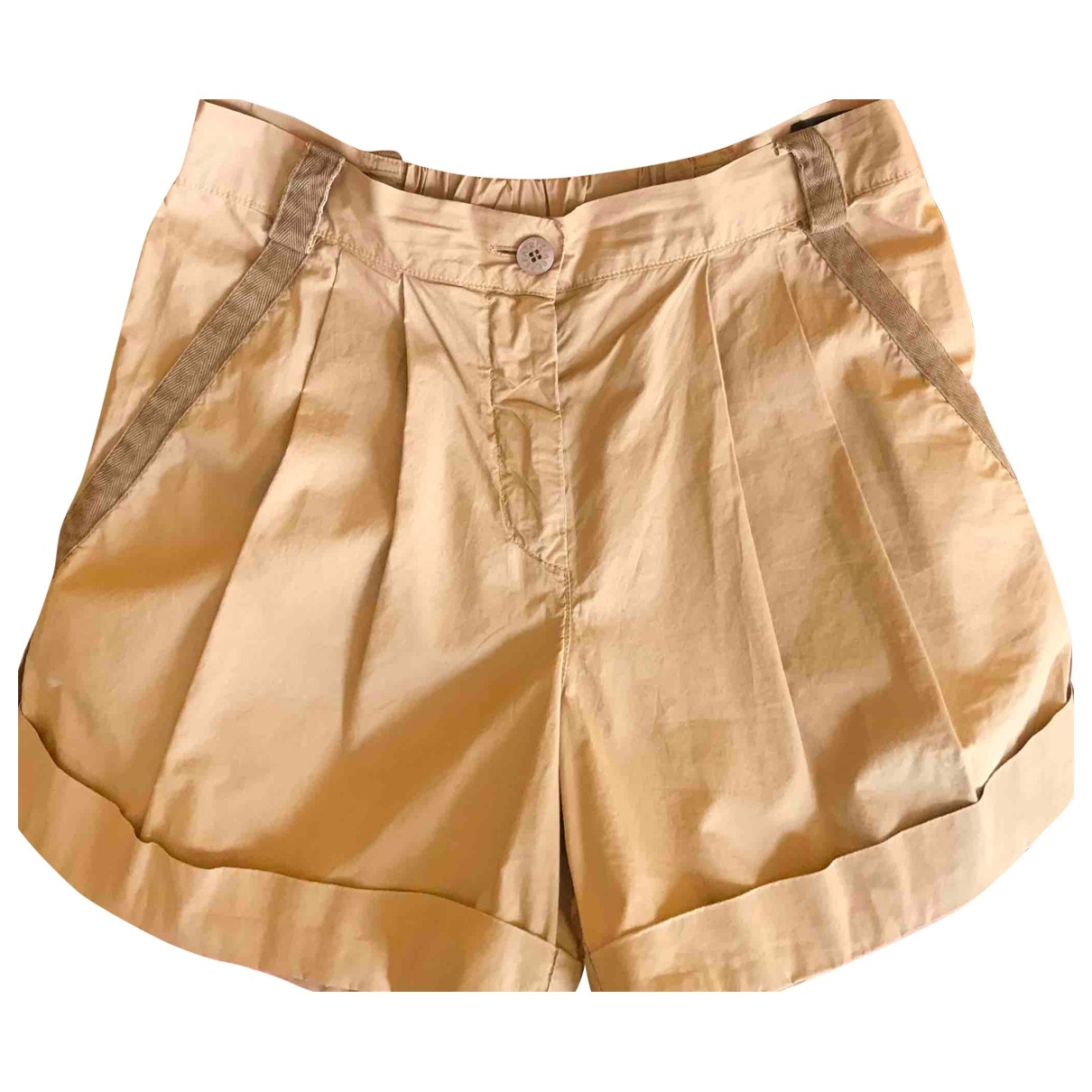 Patrizia Pepe \N Camel Cotton Shorts for Women 40 IT