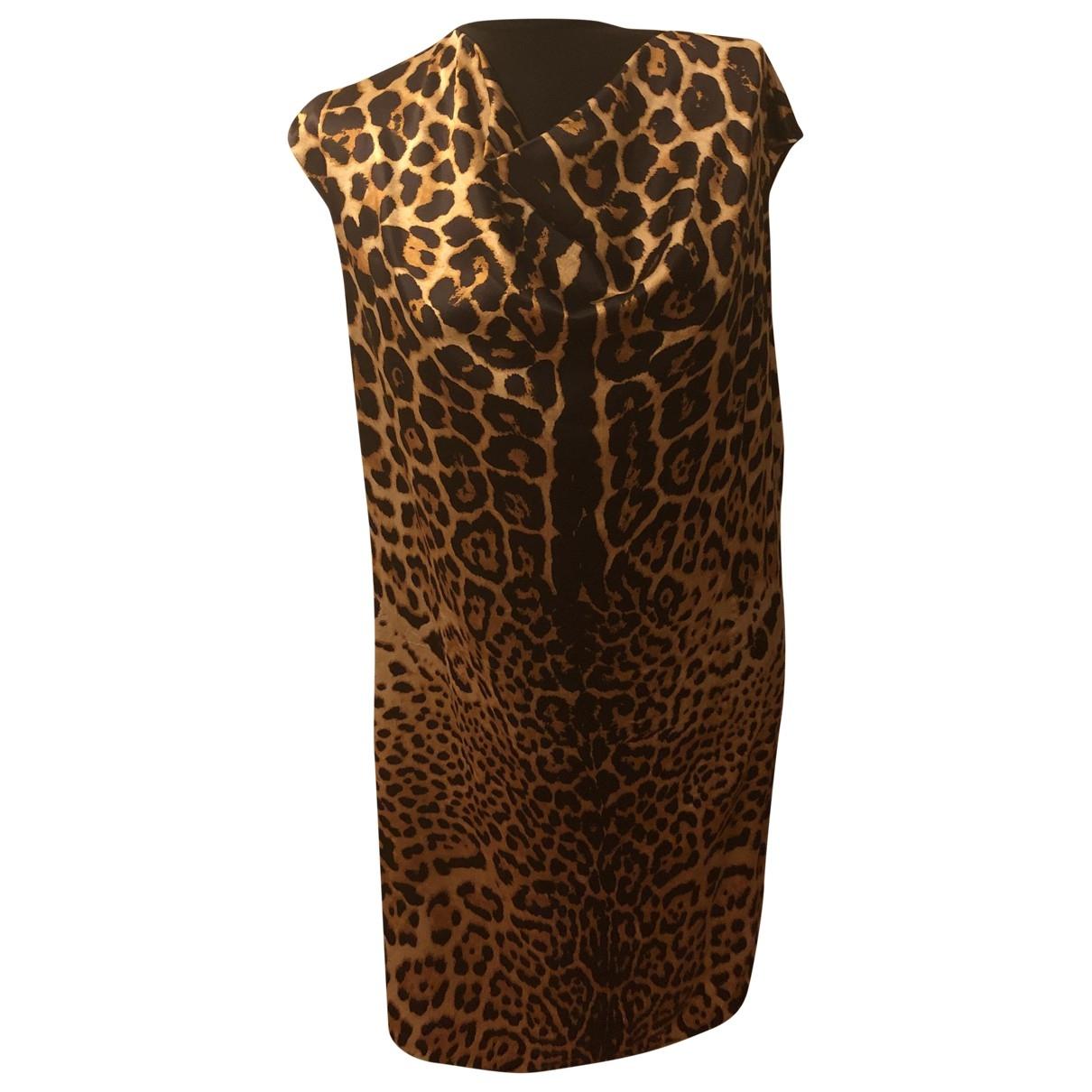Yves Saint Laurent \N Brown Silk dress for Women 44 FR