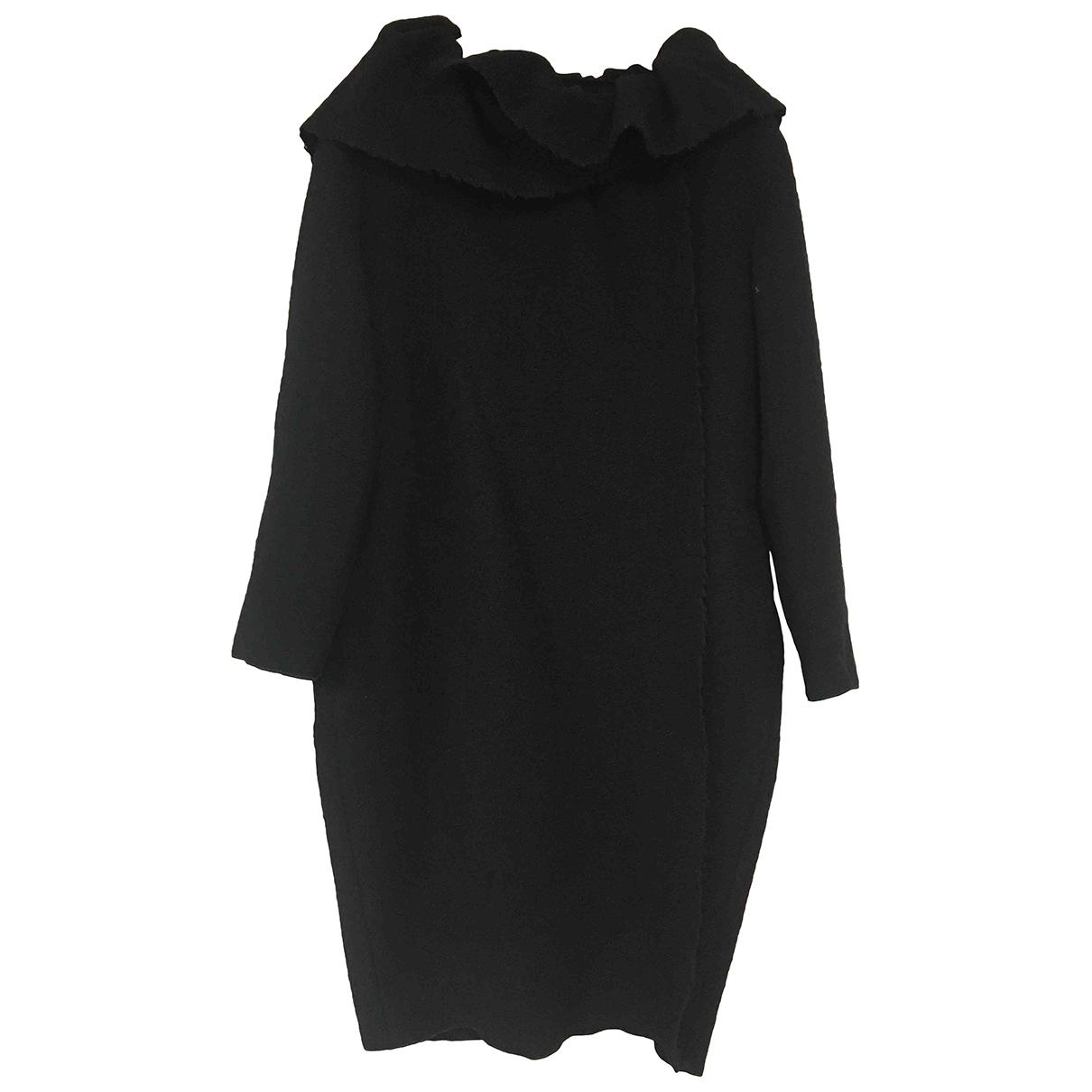 Lanvin - Manteau   pour femme en laine - noir