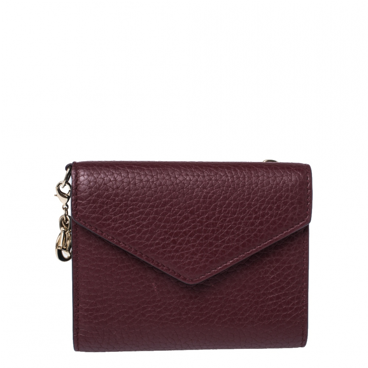 Dior Diorissimo Burgundy Leather wallet for Women N