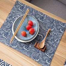 Tischset mit Welle Muster