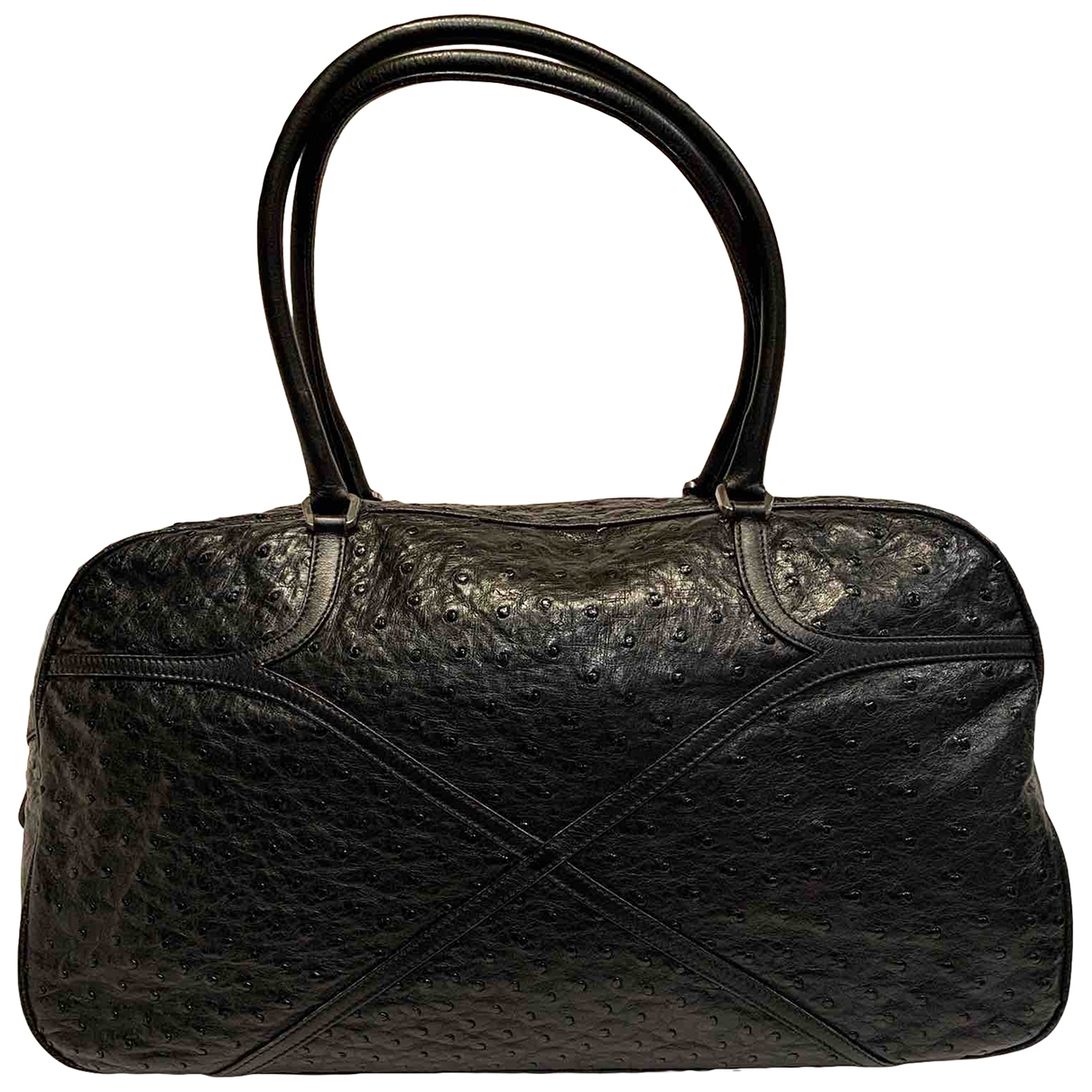 Prada \N Black Ostrich handbag for Women \N