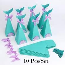 10 piezas bolsa de paquete de dulce triangula