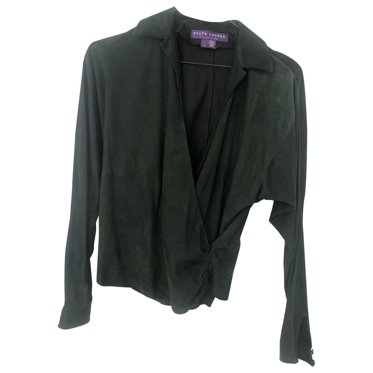 Ralph Lauren Collection \N Green Suede jacket for Women 2 US