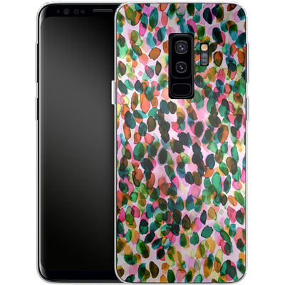 Samsung Galaxy S9 Plus Silikon Handyhuelle - Rainbow Drizzle von Amy Sia