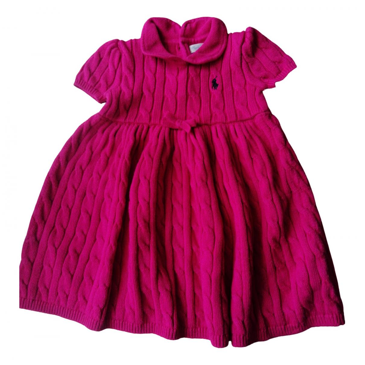 Ralph Lauren \N Pink Cotton dress for Kids 9 months - until 28 inches UK