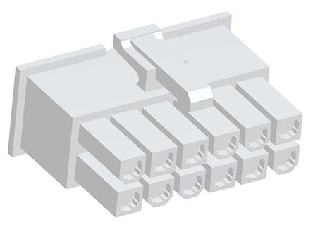 TE Connectivity , VAL-U-LOK Female Connector Housing, 4.2mm Pitch, 12 Way, 2 Row (10)