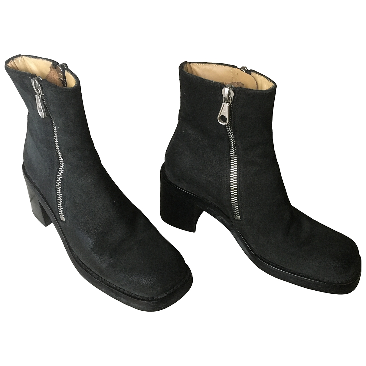 Free Lance \N Black Suede Ankle boots for Women 36.5 EU