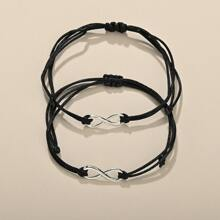 2pcs Infinity Decor Bracelet