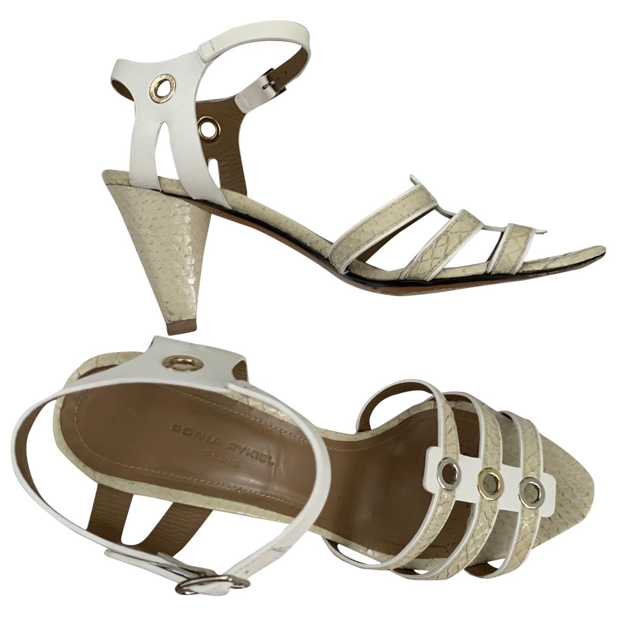 Sandalias de Cuero Sonia Rykiel