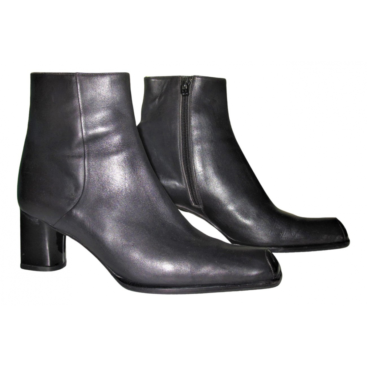 Bally N Black Leather Boots for Women 6 UK