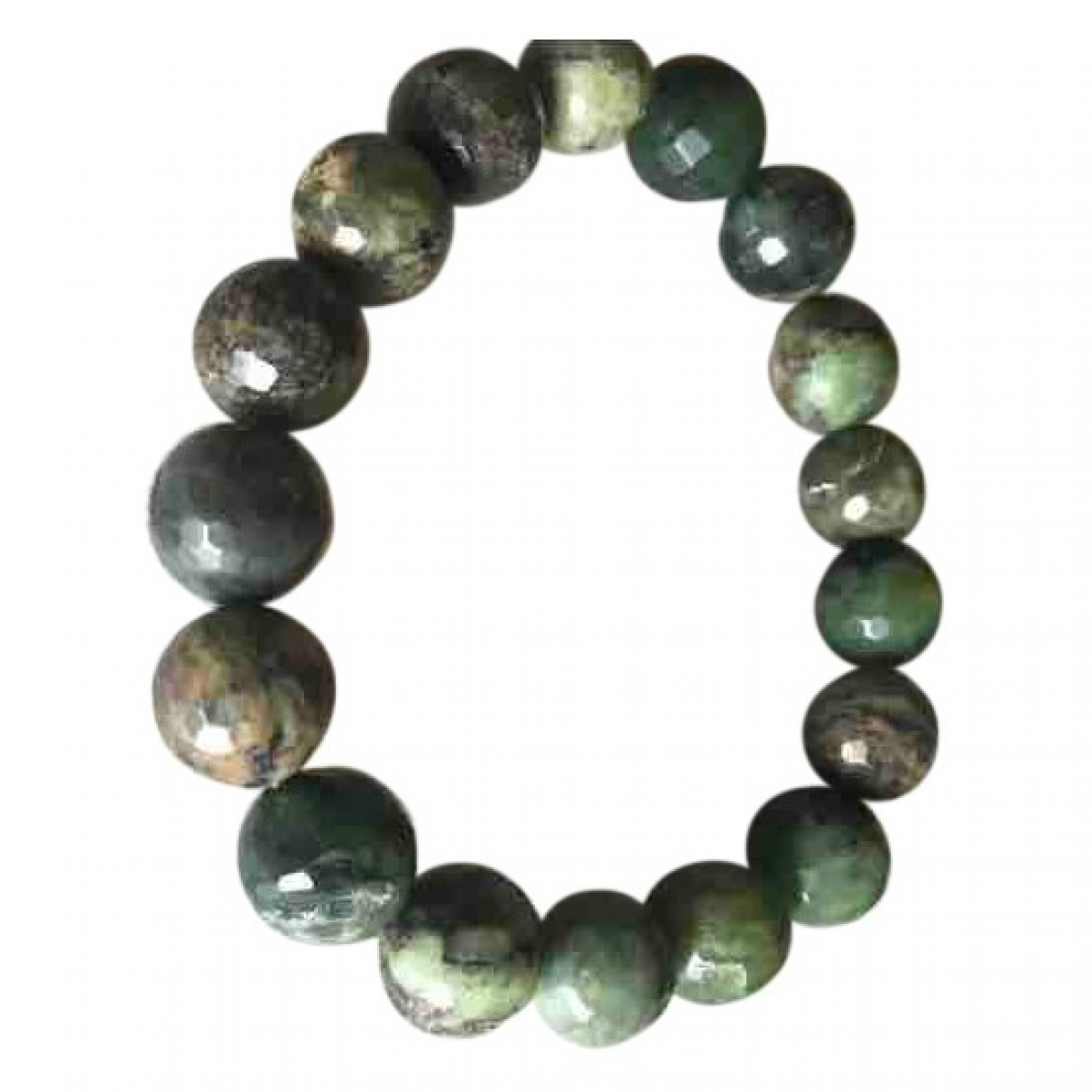 Non Signé / Unsigned Motifs Ethniques Green Metal bracelet for Women \N