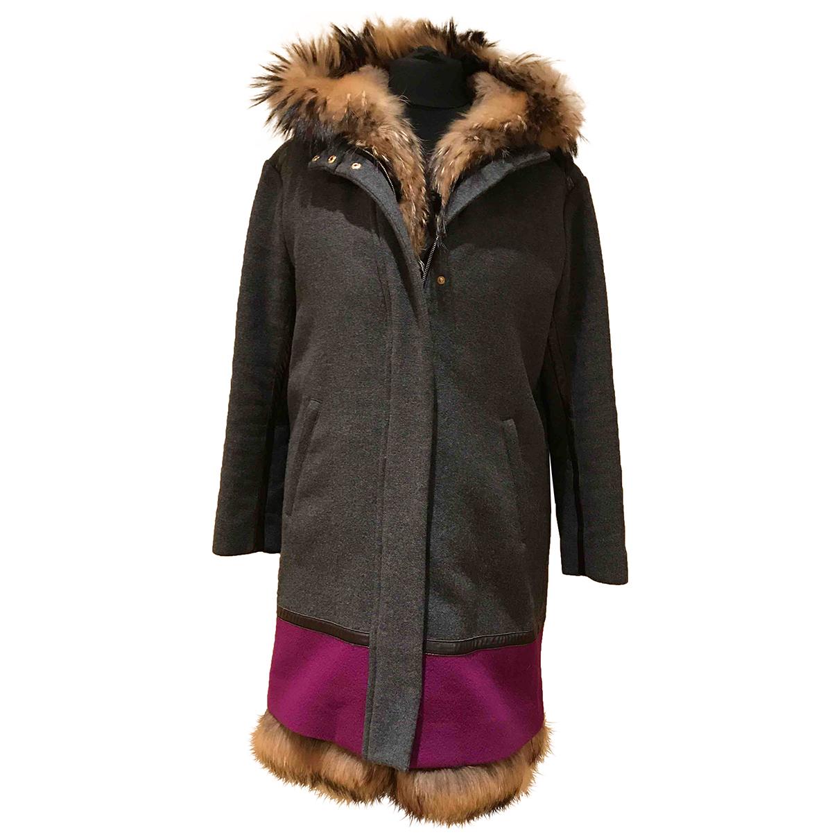 Etro - Manteau   pour femme en laine - gris