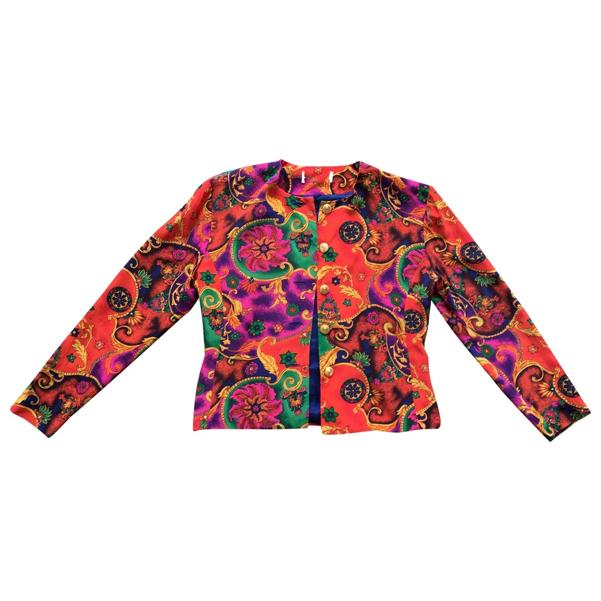 Non Signé / Unsigned \N Red Silk jacket for Women M International