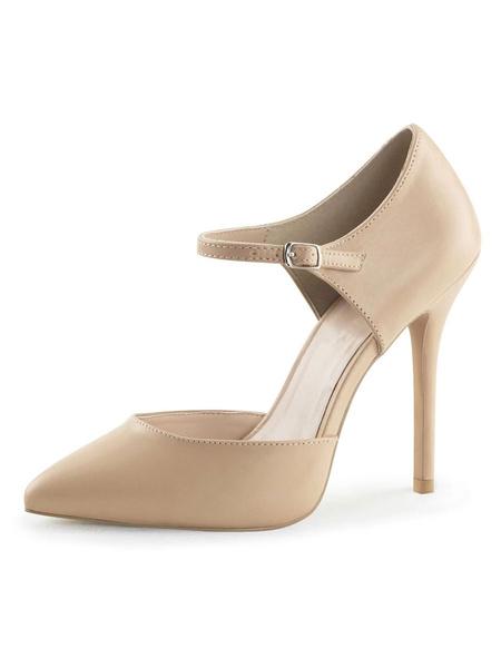 Milanoo Women's High Heels Black Slip-On Pointed Toe Stiletto Heel Sequins Sexy Vintage Pumps