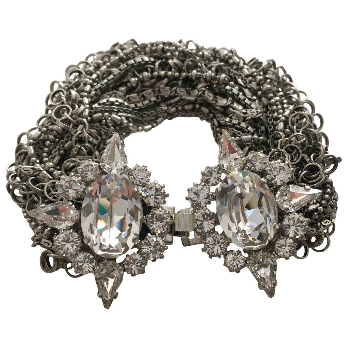 Non Signé / Unsigned \N Silver Crystal bracelet for Women \N