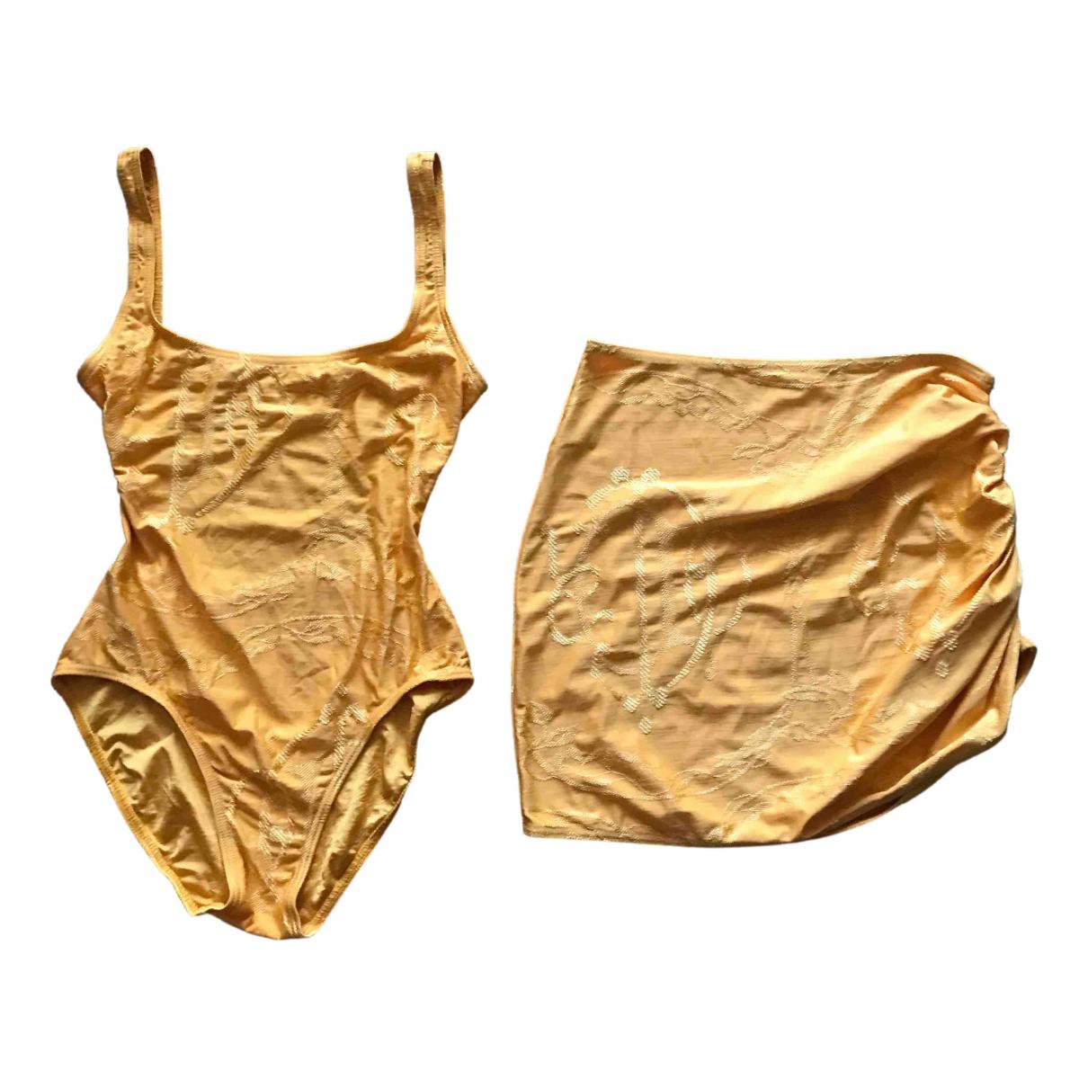 Dior - Bain   pour femme en lycra - jaune