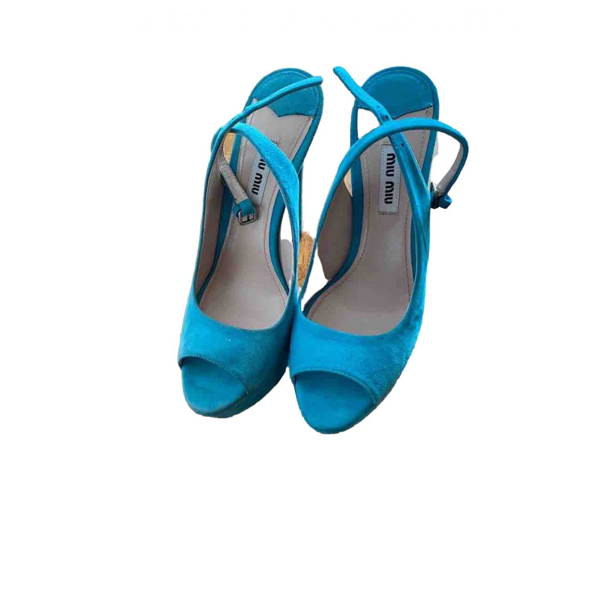Miu Miu \N Turquoise Suede Sandals for Women 37.5 EU