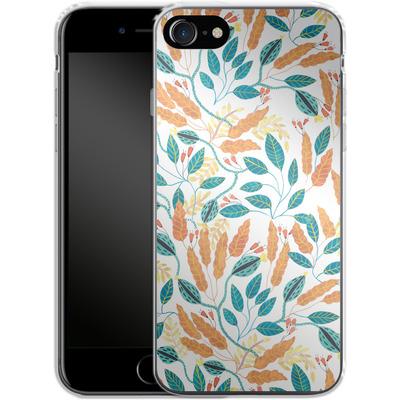 Apple iPhone 7 Silikon Handyhuelle - Wild Leaves von Iisa Monttinen