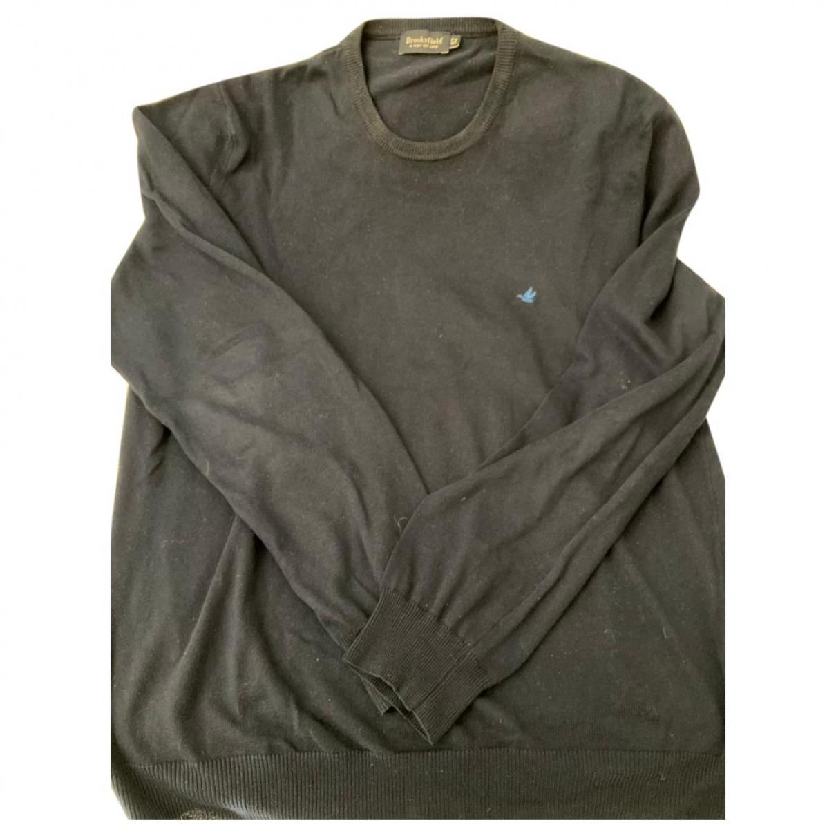 Brooksfield \N Pullover.Westen.Sweatshirts  in  Blau Baumwolle