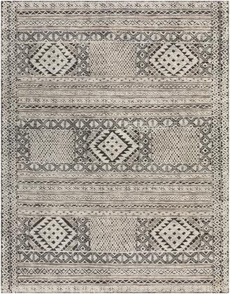 Tunus TUN-2304 4' x 6' Rectangle Traditional Rugs in Black  White