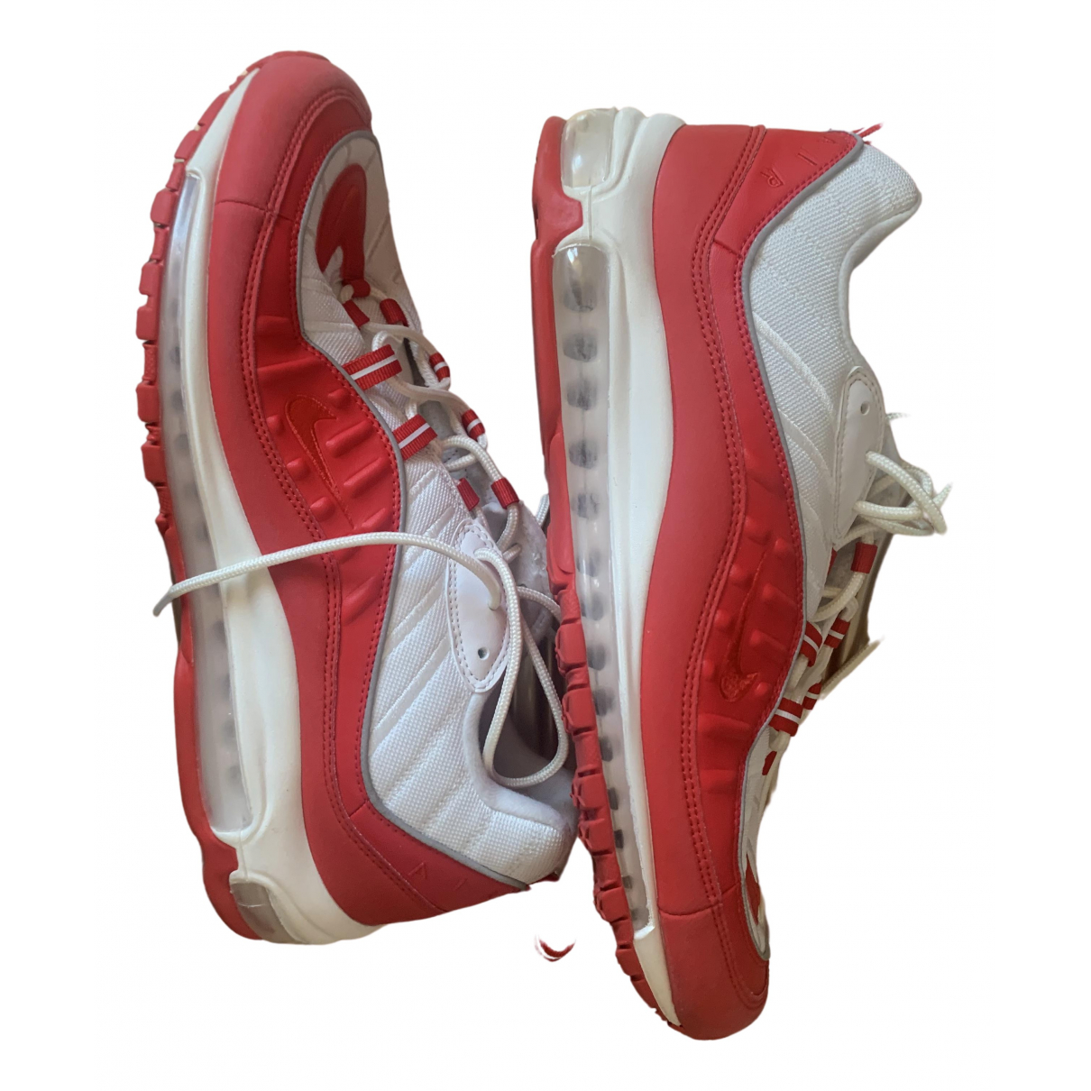 Nike Air Max 98 Red Leather Trainers for Men 46 EU