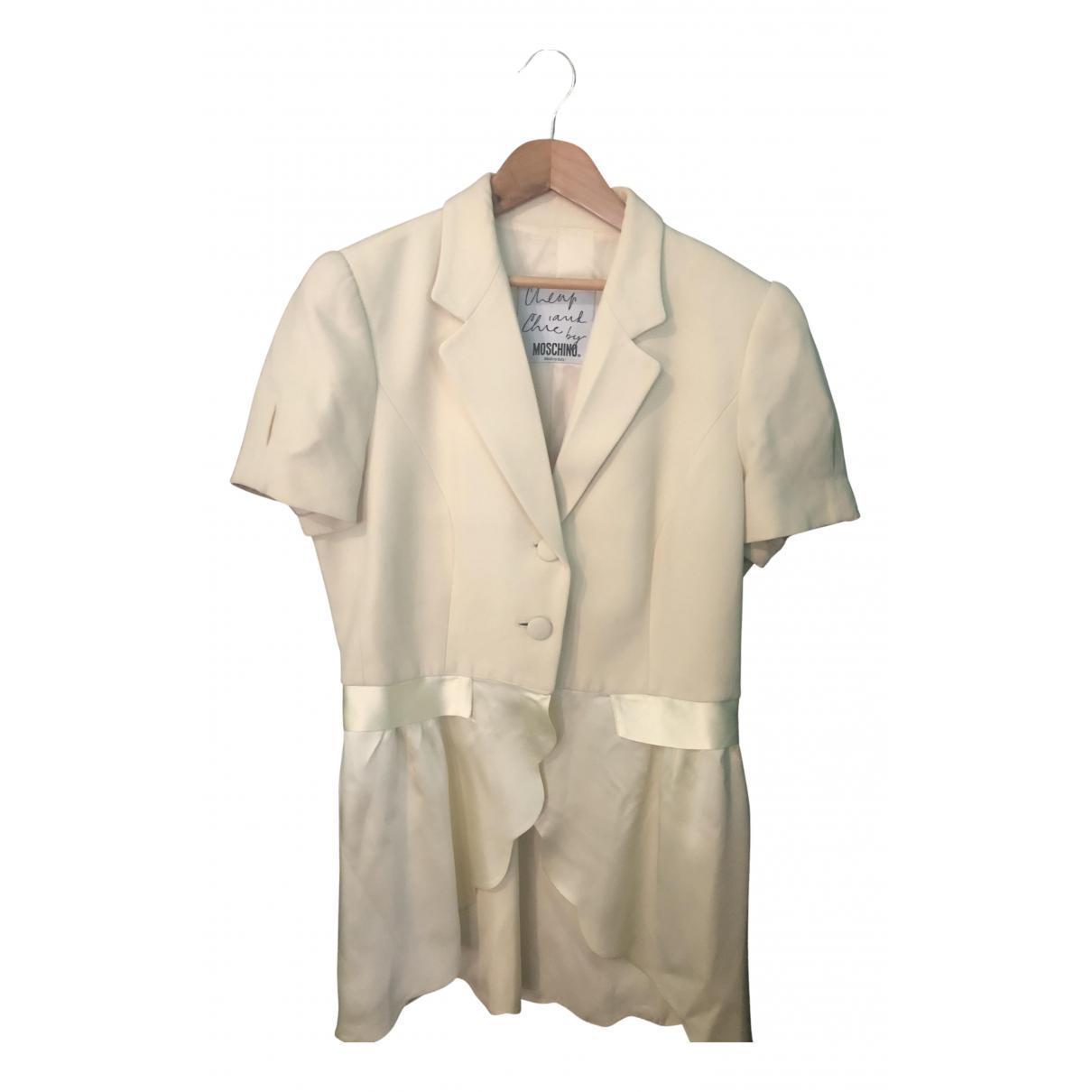 Moschino Cheap And Chic N Ecru Silk jacket for Women 42 IT