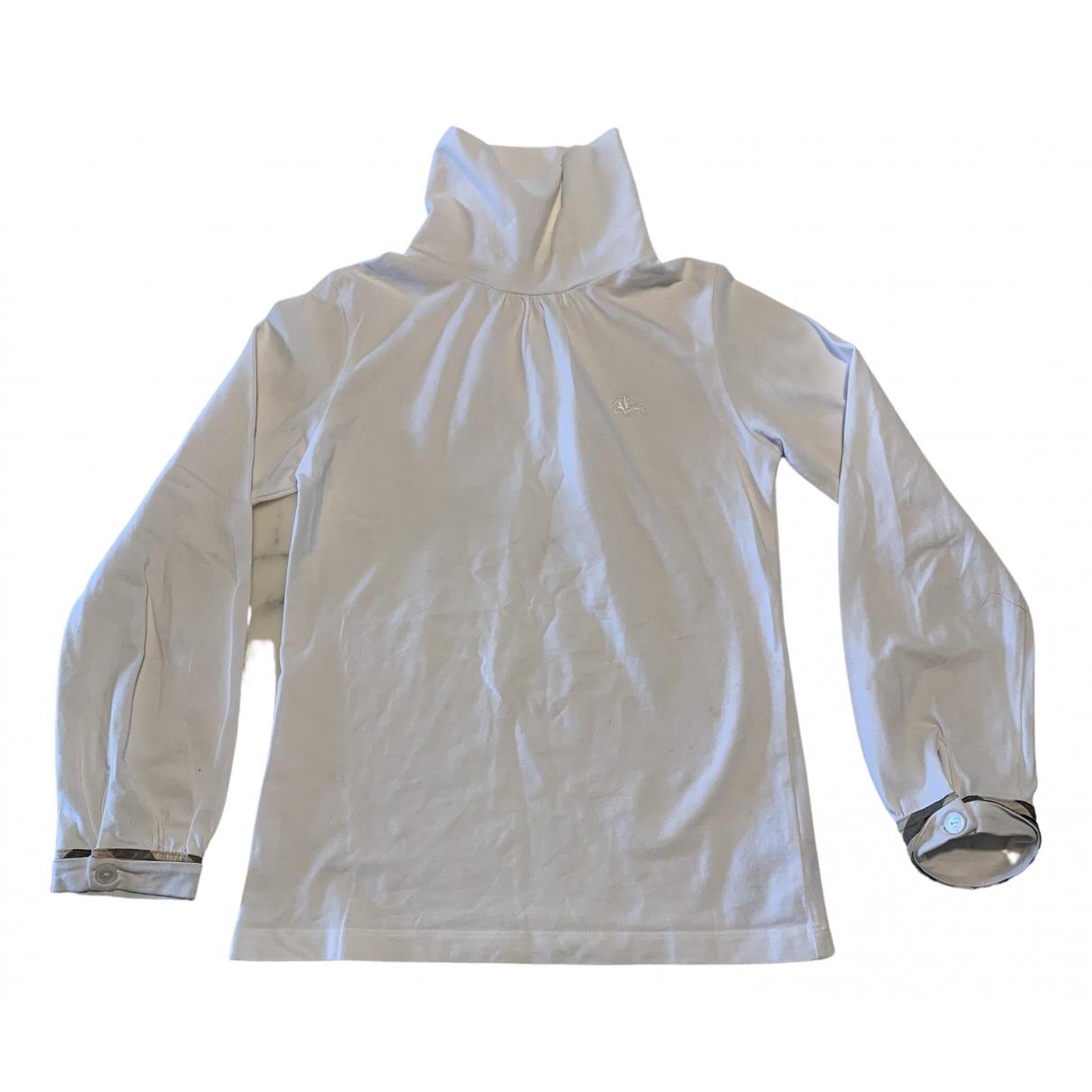 Burberry - Top   pour enfant en coton - blanc