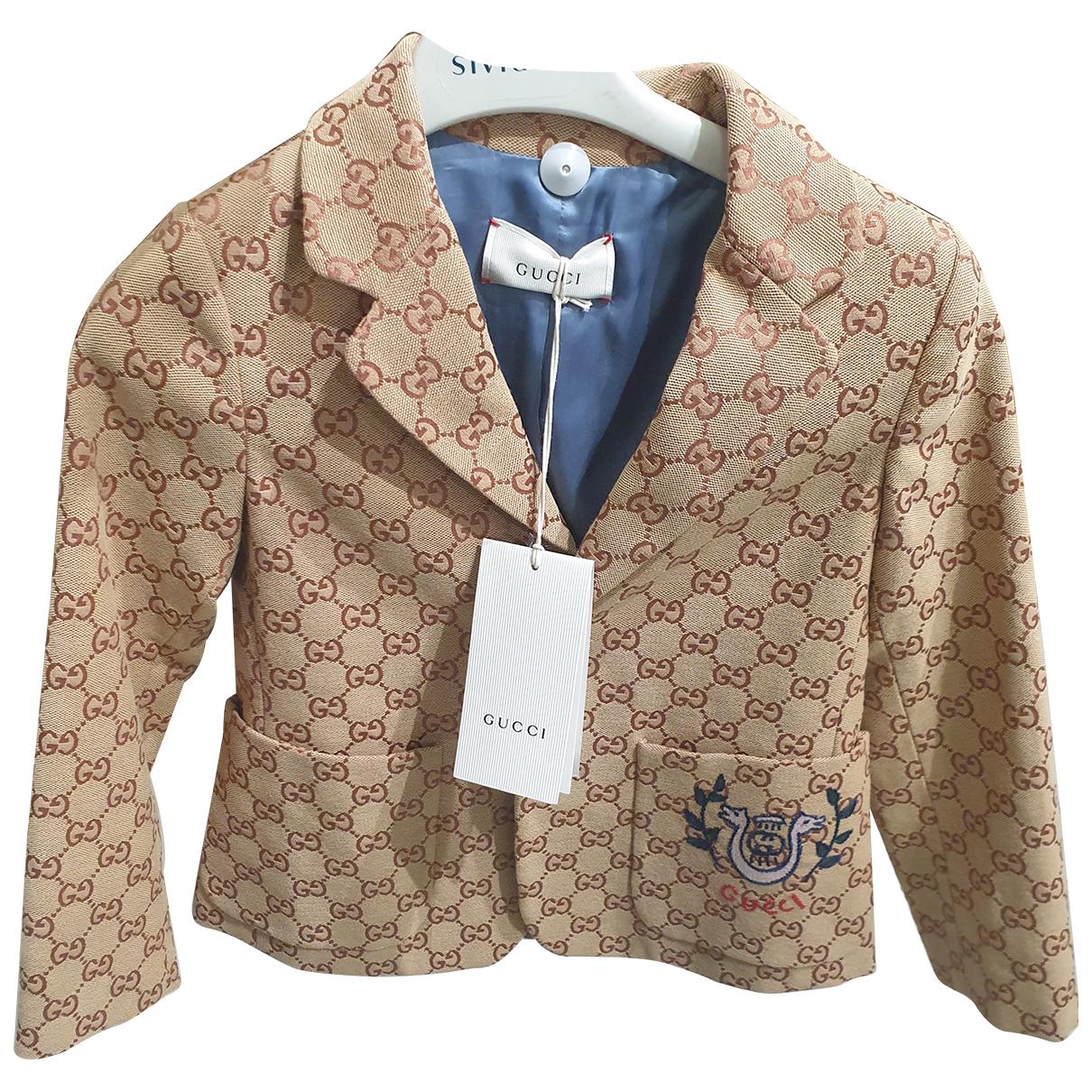 Gucci \N Jacke, Maentel in  Braun Baumwolle