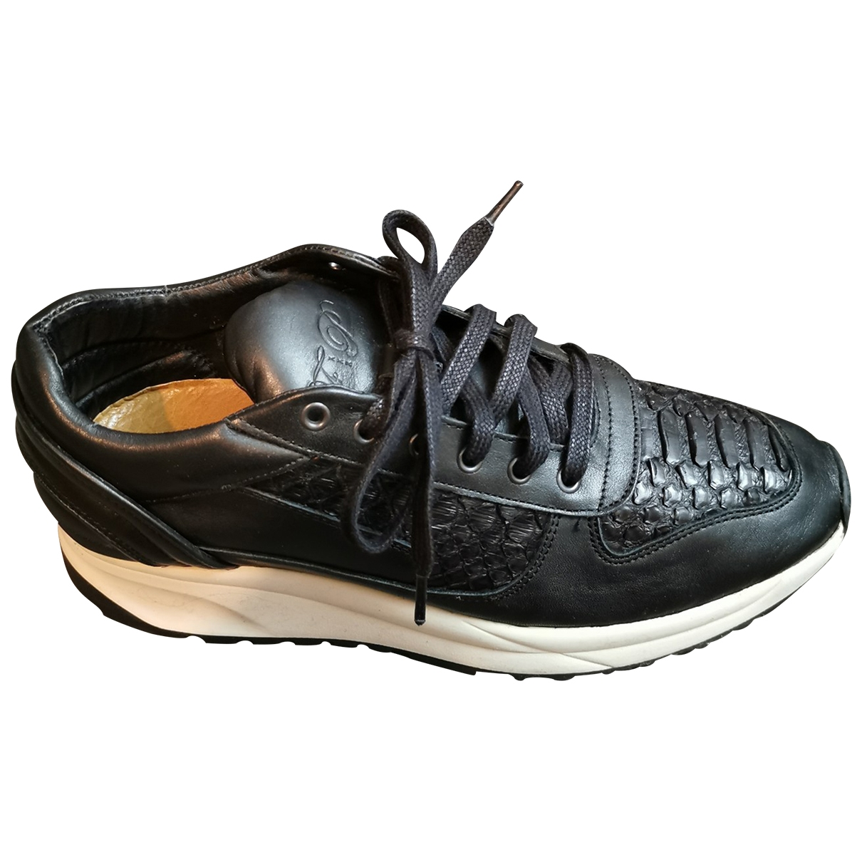 Filling Pieces \N Black Leather Trainers for Men 42 EU